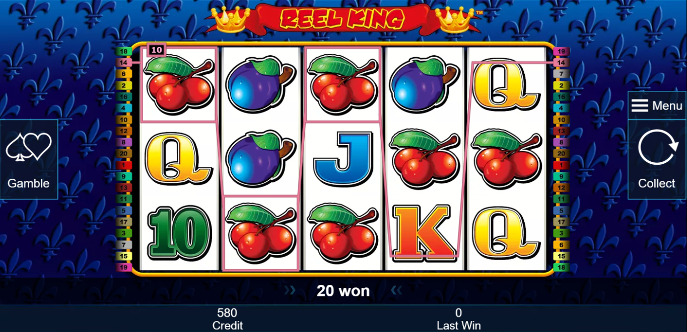test online casino free slots reel king